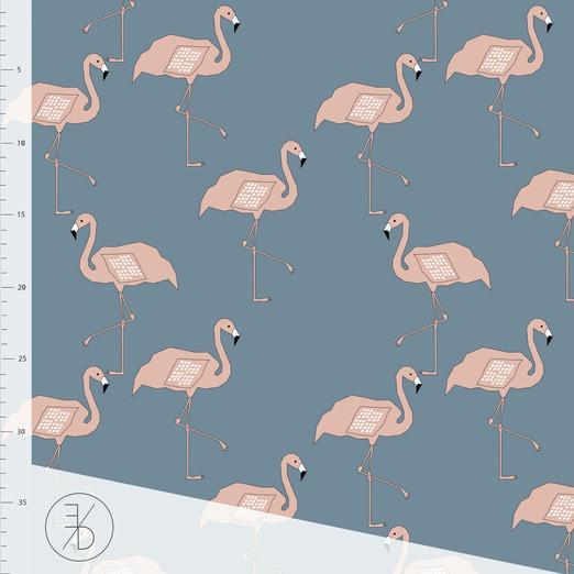 Blue Flamingo Elvelyckan