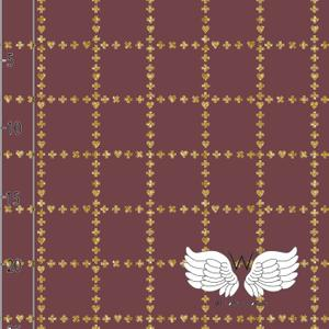 Tela Jersey Glittery Grid Wine Wcollection