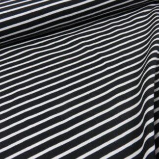 Tela Jersey rayas blancas y negras