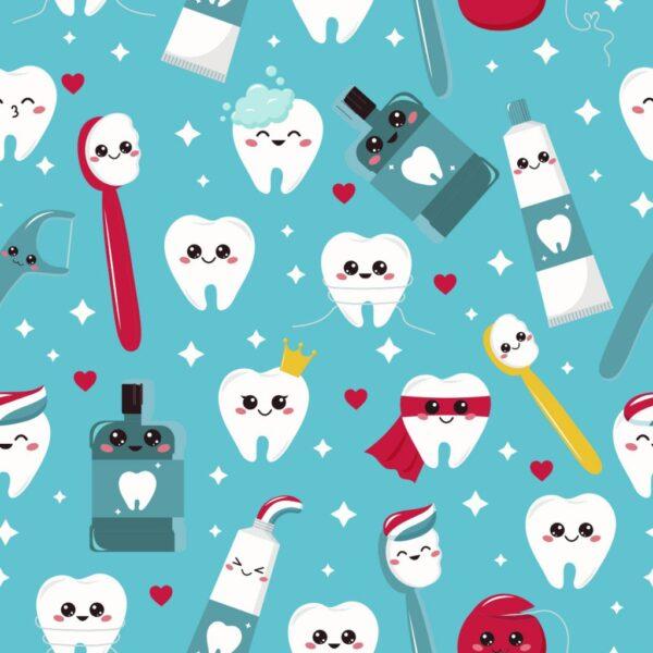 Tela algodón dentista