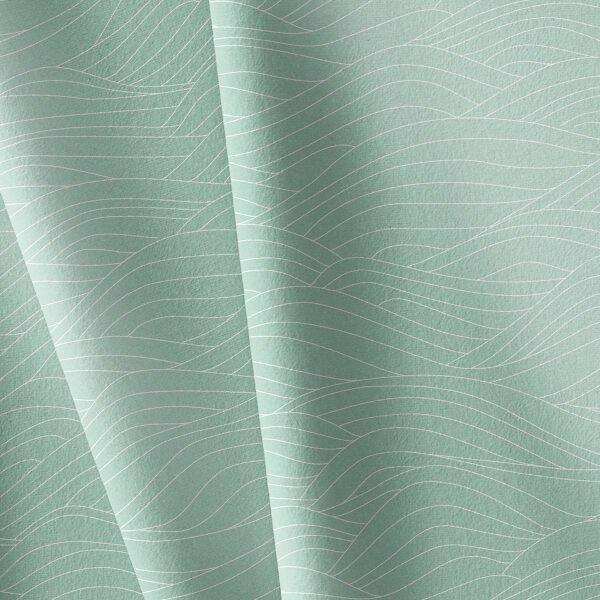 Popelin organico olas verde menta