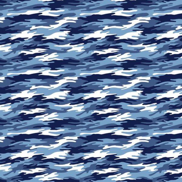 Tela algodón camuflaje azul