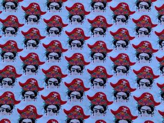 Tela popelín Frida pirata