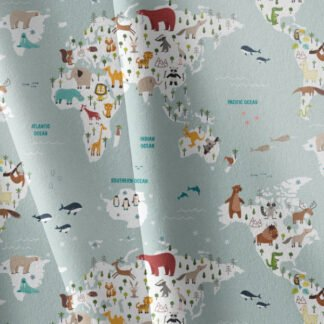 Tela algodón orgánico Mapa Kikaboni Fabrics