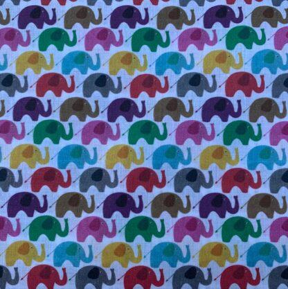Tela algodón elefantes