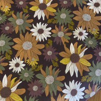 Tela algodón flores otoño