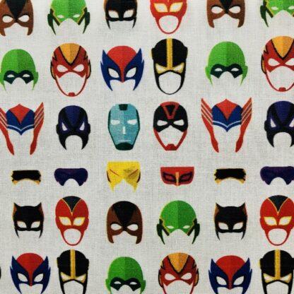 Tela algodón máscaras superheroes