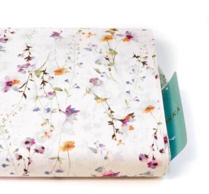 Tela algodón orgánico flores Kokka