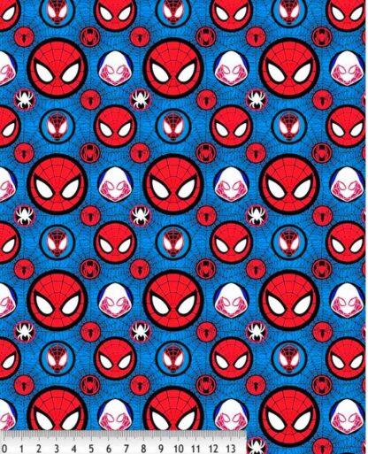 Tela algodón spiderman