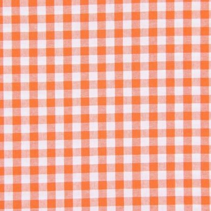 Tela algodón vichy naranja