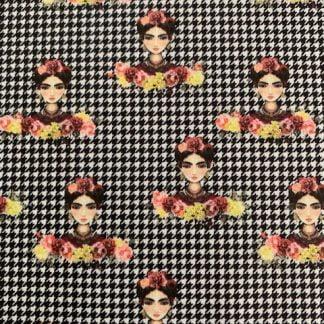 Tela algodón Frida pata de gallo