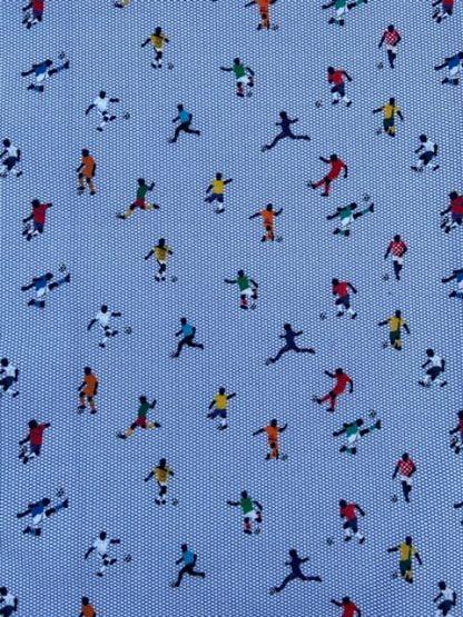 Tela algodón futbolistas