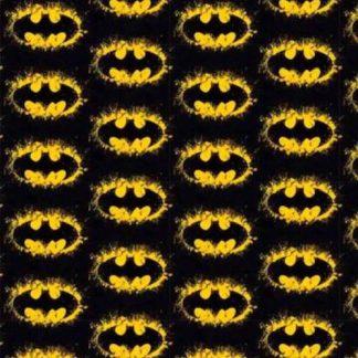 Tela algodón logo Batman sobre negro