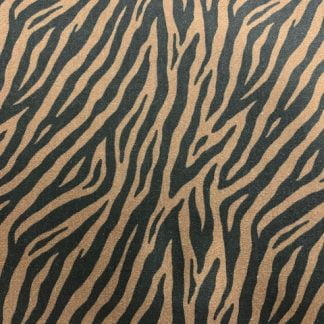 Tela algodón zebra marrón