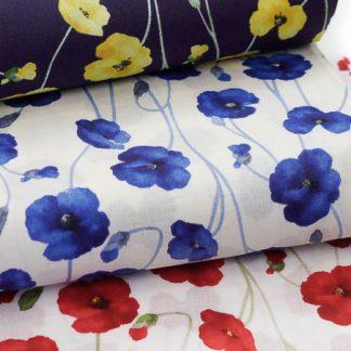Tela algodón amapolas Kokka Fabrics