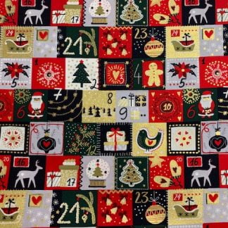 Tela algodón navideña