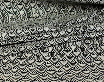 Tela algodón Seikaiha toque rústico