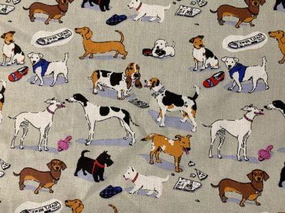 Tela algodón perros 2