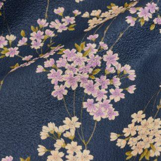 Tela algodón shidare sakura azul