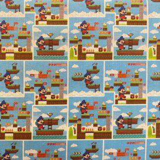 Tela algodón Super Mario