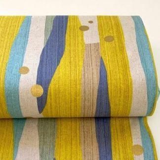 Loneta stripped yellow de Kokka Fabrics