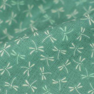 Tela algodón tonbo verde